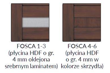 Drzwi DRE Fosca plycina-srebrna
